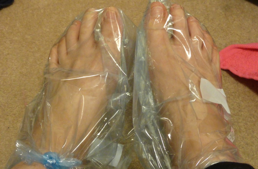 bag feet