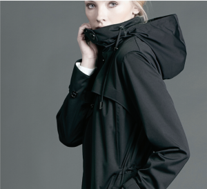 A closer look at the black parka by Protected Species