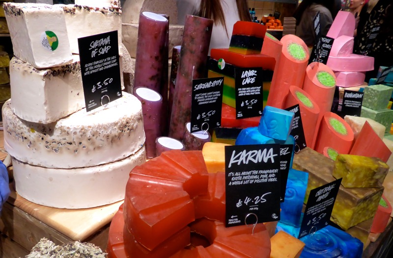 Lush-Cosmetics-soap-counter