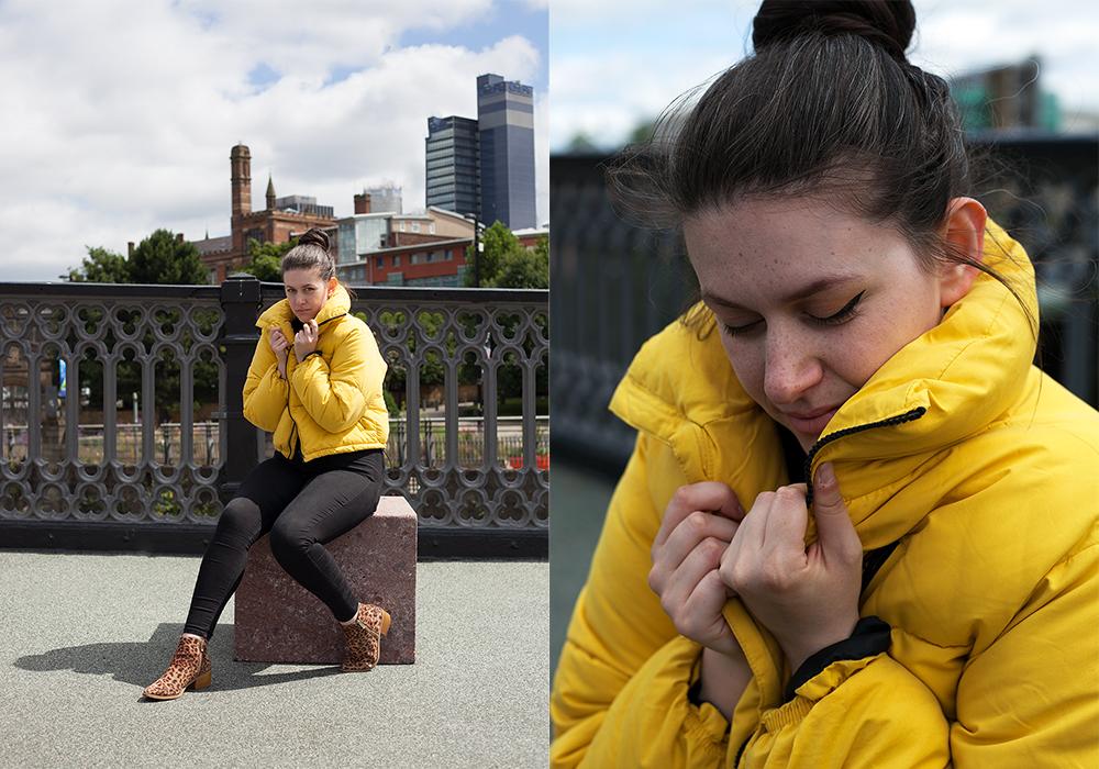 New Look bright yellow puffer coat - Philocalist blog