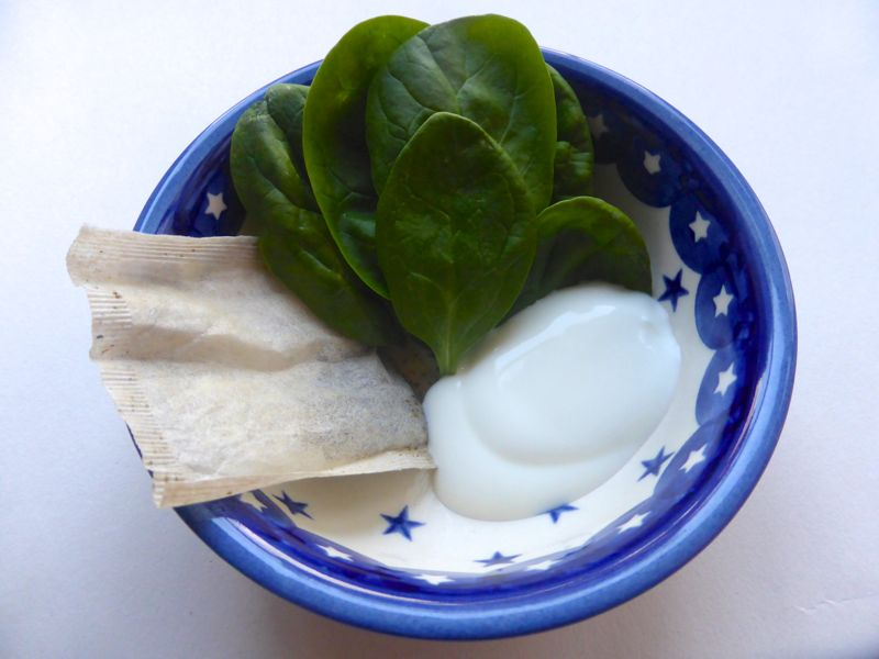 spinach facemask
