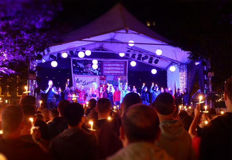 Candle lit vigil at sackville gardens