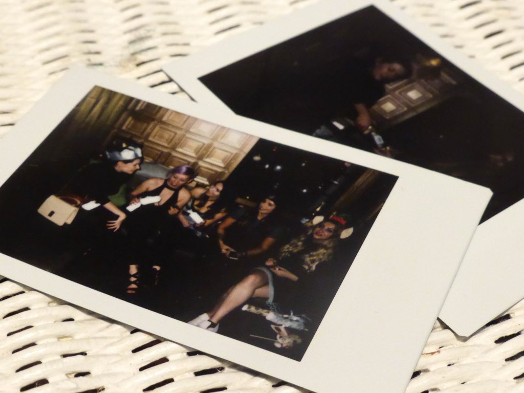 Polaroid from the JD women Christmas party at Gotham Hotel